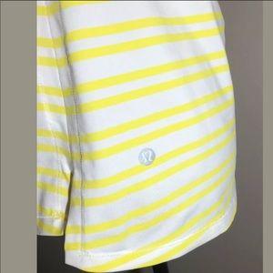 Lululemon tank yellow stripe 4 6